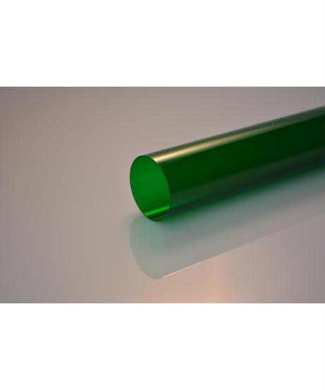 ポリカーボネイトカラーパイプ (緑 外径34mm×内径33mm×1M) 1本入