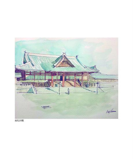 『おぢばの風景』イラスト西村勝利 ポストカード13枚セット※代引き不可商品
