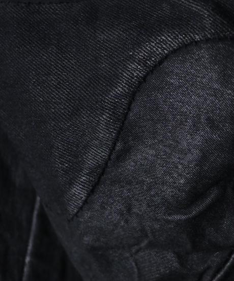 A.F ARTEFACT / ag-2007 / コーティング スウィッチング フーディーブルゾン/ BLACK