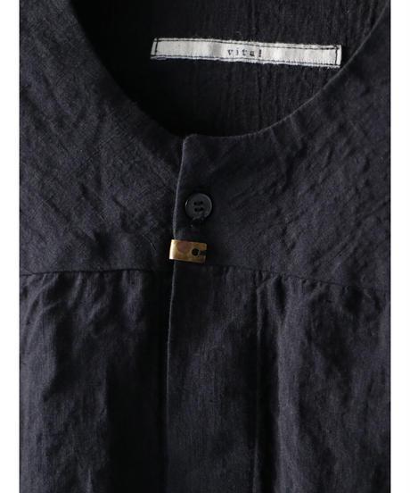 Vital / VT-2014 / No Collar Half Sleeve Top / BLACK