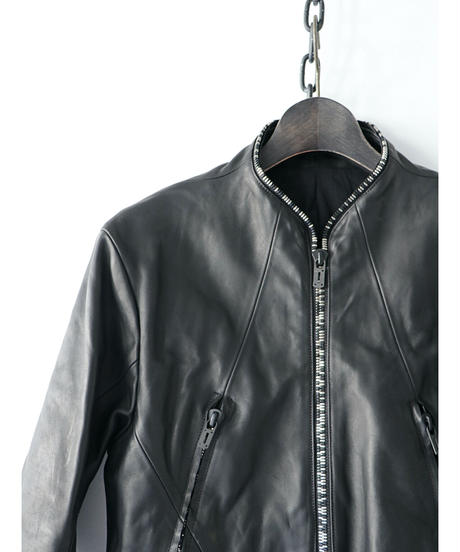 D.HYGEN / ST105-0121A  / Horse Leather Round Zipper Jacket / Black