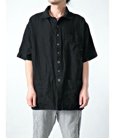 Vital / VT-2015-2 / Pocket Half Sleeve Top / BLACK