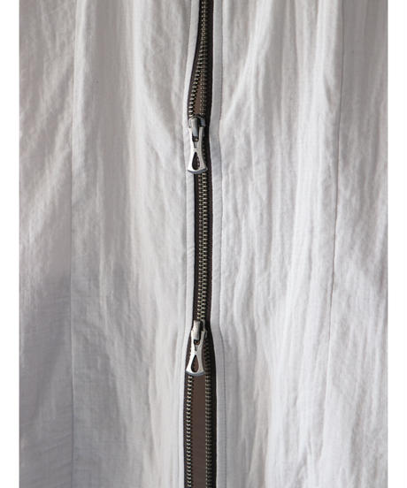 Thee OLD CIRCUS / 9170 / W-GAUZE NO-COLLAR ZIP SHIRTS / RAINBOW GRAY