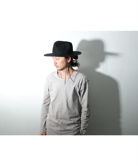 ASKYY / HH  / LONG BRIM HAT  / BLK