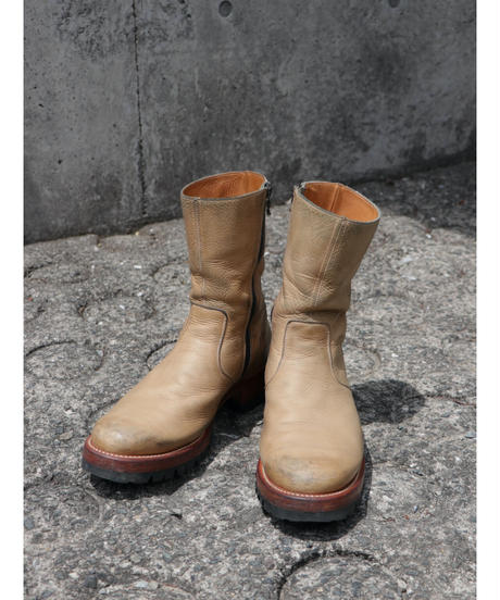 """Aging  piece ( 経年変化見本 )/  """"Thee OLD CIRCUS"""" Side zip boots"""