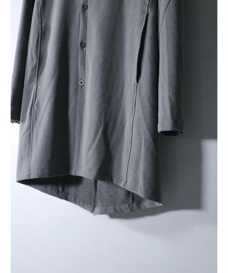 Thee OLD CIRCUS / 9351 / ウールストレッチ ダブルフーディ フロントシャツコート / DUST GRAY