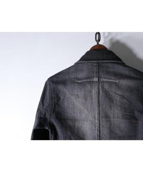Thee OLD CIRCUS / 9124 / 13.5oz ストレッチデニム ジップGシャツ / OLD BLACK