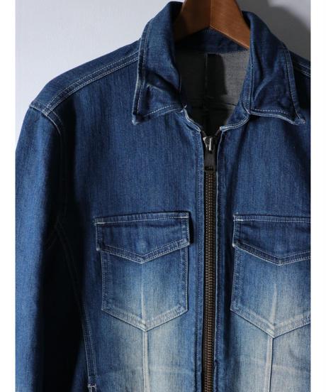 Thee OLD CIRCUS / 9124 / 13.5oz ストレッチデニム ジップGシャツ / INDIGO BLUE