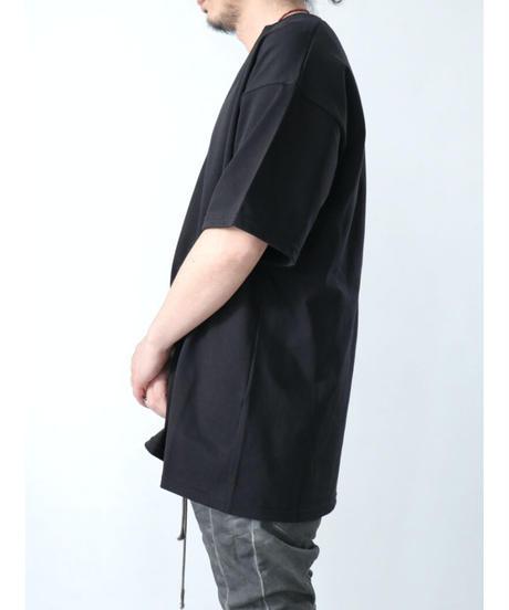 A.F ARTEFACT / ag-3043  / V-Neck Top / BLACK