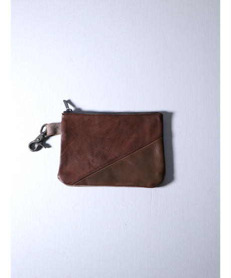 """Portaille / GP01-AS / Leather Pouch """"Horse & Cow mix"""" / Blown"""