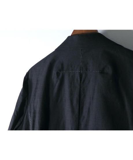 Thee OLD CIRCUS / 8310 / 30/16織りバックサテンストレッチ デフォルメ 2つボタンジャケット / DUST BLACK
