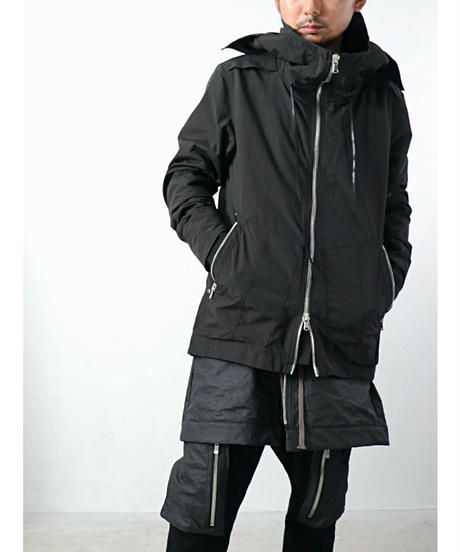 A.F ARTEFACT / ag-4004  / Nylon Hoodie Blouson / BLACK