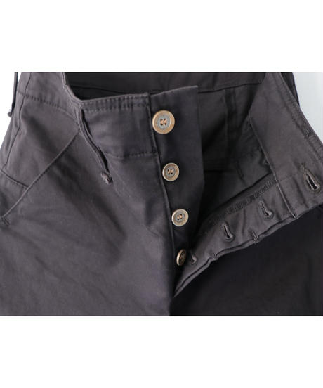"""Thee OLD CIRCUS / 7151 / ROT-9 SATIN """"CS"""" PANTS / DUSTY BLACK"""