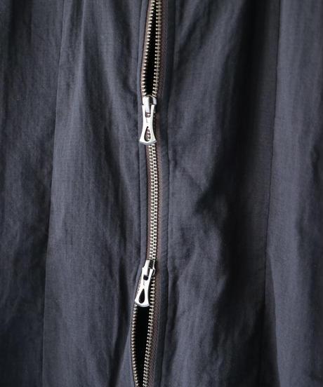 Thee OLD CIRCUS / 9170 / W-GAUZE NO-COLLAR ZIP SHIRTS / RAINBOW BLACK