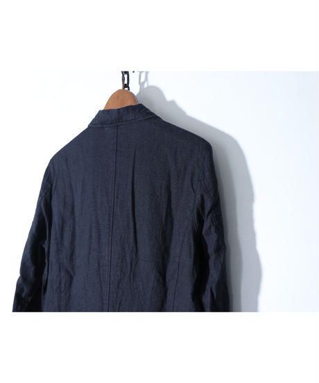 Thee OLD CIRCUS / 8136 / LINEN LONG SHOP SHIRTS  /  BLACK