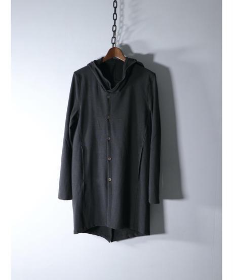 Thee OLD CIRCUS / 9351 / ウールストレッチダブルフーディフロントシャツコート / DUST SMOKE