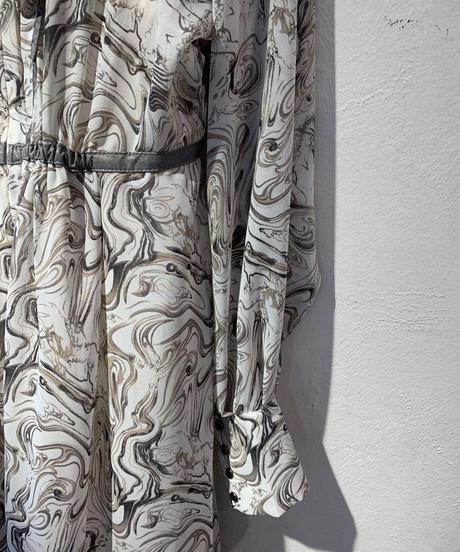 マーブルロングドレス