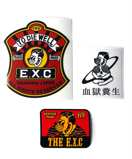 ステッカーパック3P/EXC #EXC-GD02