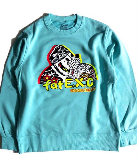 """""""FAT"""" (スウェット/ミントブルー) #EXC-SW01"""