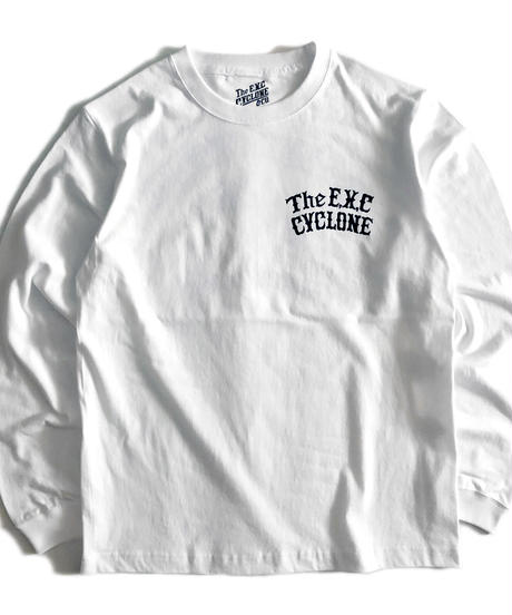 【CYCLONE】ロンT/ホワイト #EXC-LT16