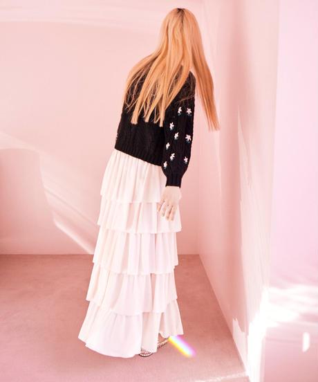 chiffon tiered skirt PINK