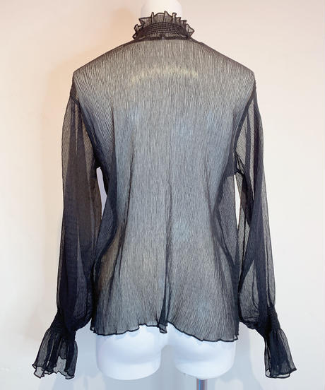 sheer blouse BLACK