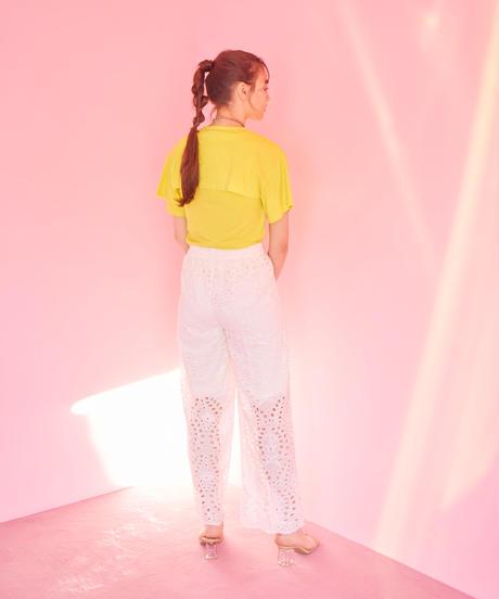 lace pants WHITE