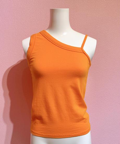 asymmetry camisole ORANGE