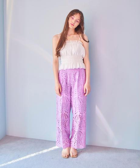 lace pants PURPLE