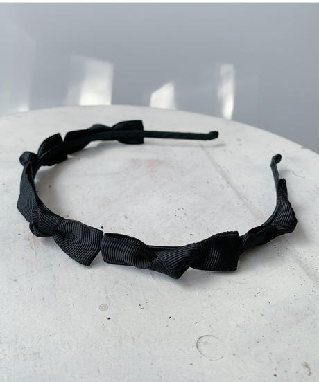 mini ribbon cachucha GROSGRAIN BLACK