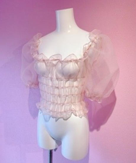 organdie puff blouse PINK