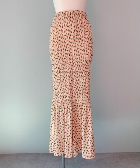 flower thermal skirt PINK