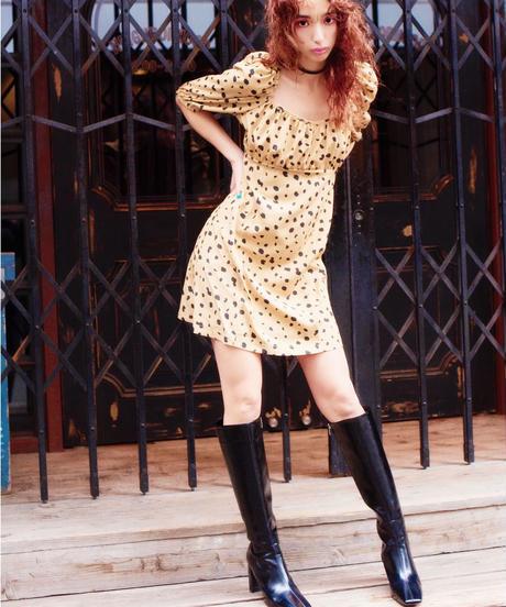 dalmatian dress BEIGE