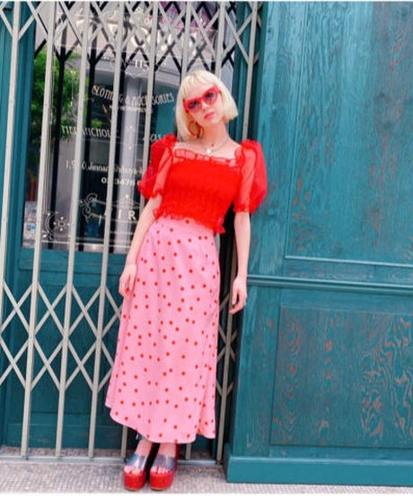 print skirt PINK DOT