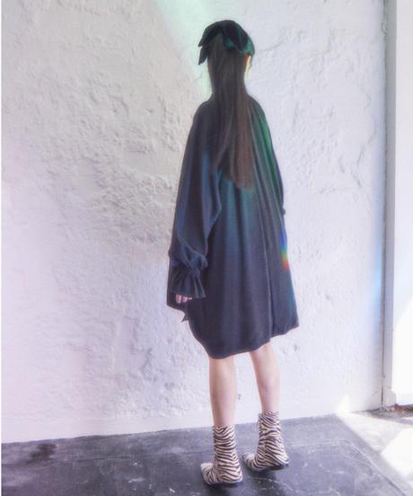 pullover flare dress BLACK