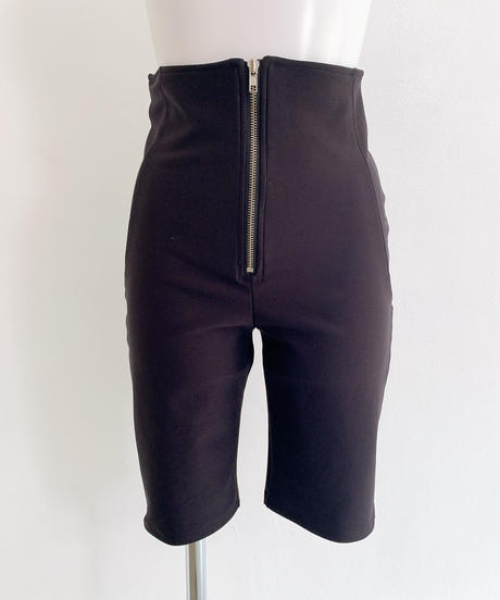 stretch half pants BLACK
