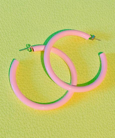 color hoop pierce PINK
