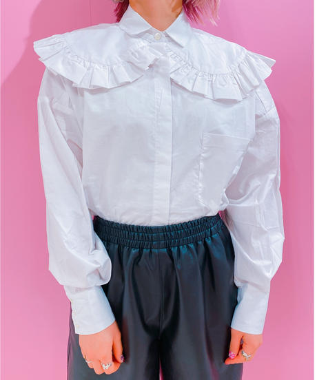 double collar frill shirt
