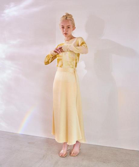 pastel  satin skirt LEMON