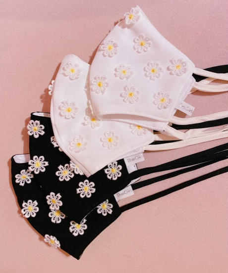 daisy face mask WHITE