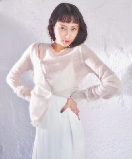 bias button knit IVORY