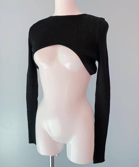cropped rib knit BLACK