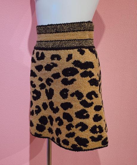 leopard knit skirt