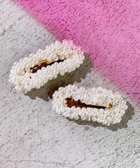 pearl hair pins  SQUARE