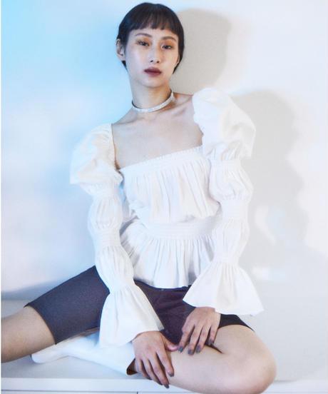 sleeve conscious blouse WHITE