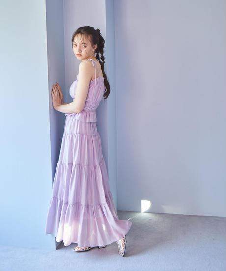 flare maxi skirt PURPLE