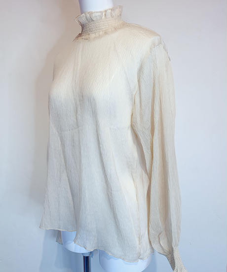 sheer blouse BEIGE