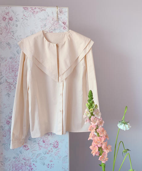 big collar shirt CREAM