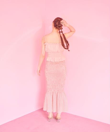shirring skirt PINK