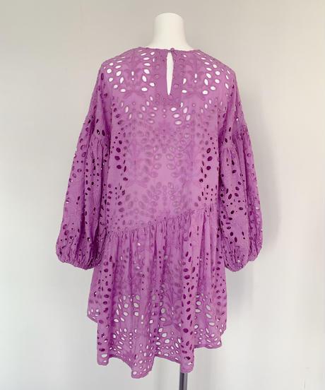 lace short dress PURPLE